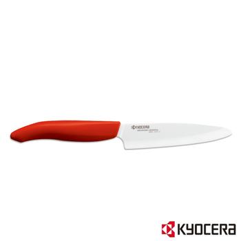 ★結帳現折★KYOCERA 日本京瓷陶瓷刀11cm(黑柄)(紅柄-FK-110WH-RD)