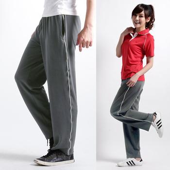 遊遍天下 MIT男女款抗UV超涼爽休閒速乾長褲 P048灰(L)