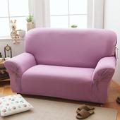 《歐卓拉》繽紛樂彈性沙發套1+2+3人座-多色可選(葡萄紫)