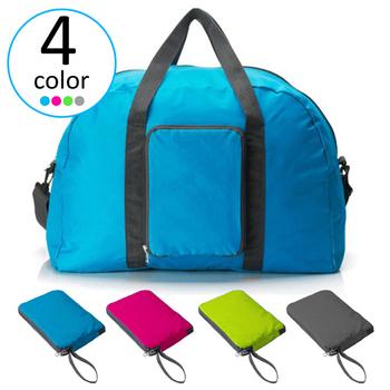 韓版 超輕巧多功能可折疊收納式旅行袋(藍色)