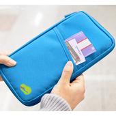 《韓版》多功能旅遊收納護照包 隨手包(天藍)