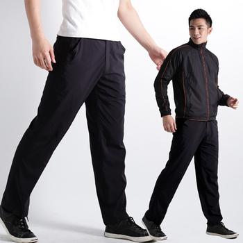 遊遍天下 男款抗UV超涼爽休閒速乾長褲1113黑(XL)