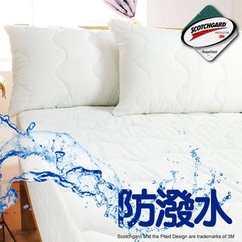 床邊故事 專利3M防潑水保潔墊-平單式(雙人加大6尺)