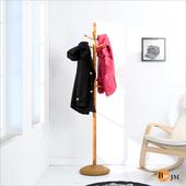 《BuyjJM》實木穩重型衣帽架/吊衣架(柚木色)