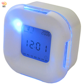 《月陽》超炫多功能萬年曆溫度計計時器四面鐘鬧鐘(UI2606)(UI2606)