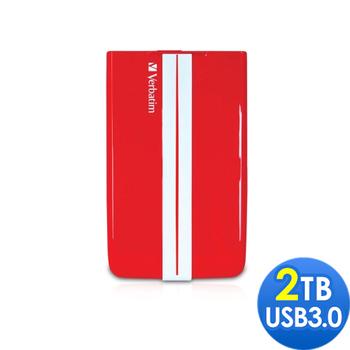 Verbatim 威寶 GT 2TB USB3.0 2.5吋超跑行動硬碟(跑車紅)