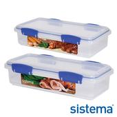 《Sistema》紐西蘭進口扣式冷水壺保鮮盒二件組(61480+1481)