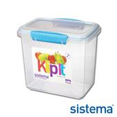 《Sistema》紐西蘭進口長桶型收納扣式保鮮盒1.9L(61680)