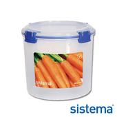 《Sistema》紐西蘭進口圓桶型收納扣式保鮮盒2.2L(1390)