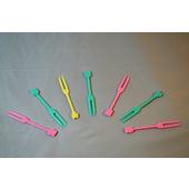 塑膠彩色水果叉(9CM)