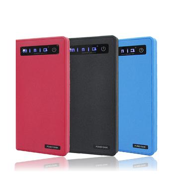 《miniQ》12000mAh 韓國電芯雙輸出 觸控式 行動電源(贈防水袋 1A插座)(天空藍)