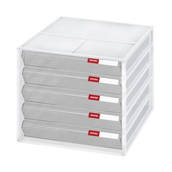 SONA PLUS 五層桌上資料文件櫃(白)