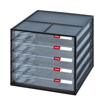 SONA PLUS 五層桌上資料文件櫃(黑)