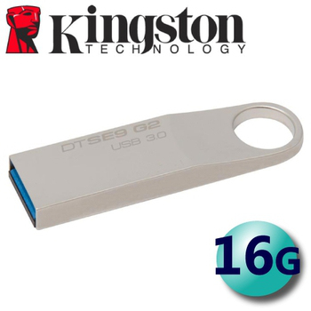 金士頓 Kingston DataTraveler SE9 G2 USB3.0 金屬輕薄隨身碟 16G ( DTSE9G2 )