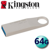 《金士頓 Kingston》DataTraveler SE9 G2 USB3.0 金屬輕薄隨身碟 64G ( DTSE9G2 )