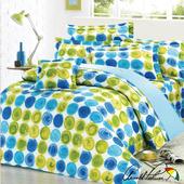 《Arnold Palmer雨傘牌》綠波圓舞曲-40紗精梳純棉床罩雙人加大七件組