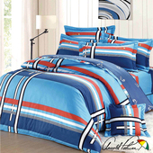 《Arnold Palmer雨傘牌》爵士格調-40紗精梳純棉床罩雙人加大七件組