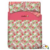 《Arnold Palmer雨傘牌》晨曦花語-40紗精梳純棉床包被套雙人加大四件組