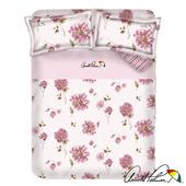 《Arnold Palmer雨傘牌》愛戀紅妍-40紗精梳純棉床包被套雙人加大四件組