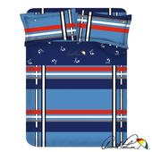 《Arnold Palmer雨傘牌》爵士格調-40紗精梳純棉床包被套雙人四件組