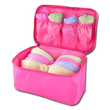旅行玩家 旅行多功能內衣收納包(亮桃紅)