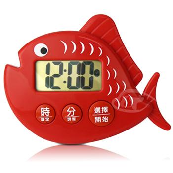 ★結帳現折★CATIGA 歡樂果漾-大字幕電子計時器(鮭魚紅)