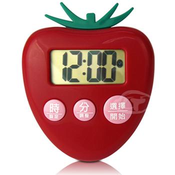 ★結帳現折★《CATIGA》歡樂果漾-大字幕電子計時器(草莓紅)