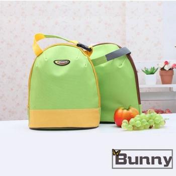 Bunny 韓版攜帶式手提加厚午餐袋購物袋便當袋保溫袋(黃色)