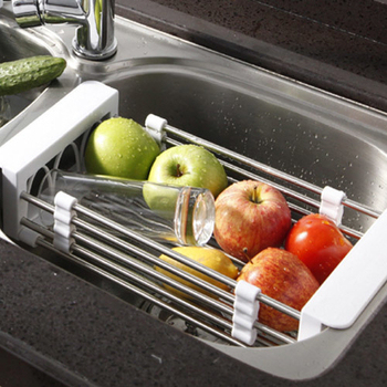 寶優妮 不鏽鋼可調式廚房瀝水籃(DQ-0076)