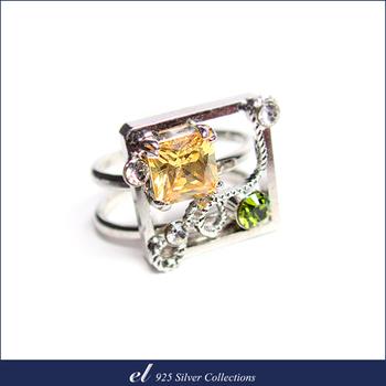 el 925 Silver 非銀系列 - 施華洛世奇水晶鑽無戒圍戒指 Shapes(戒指)