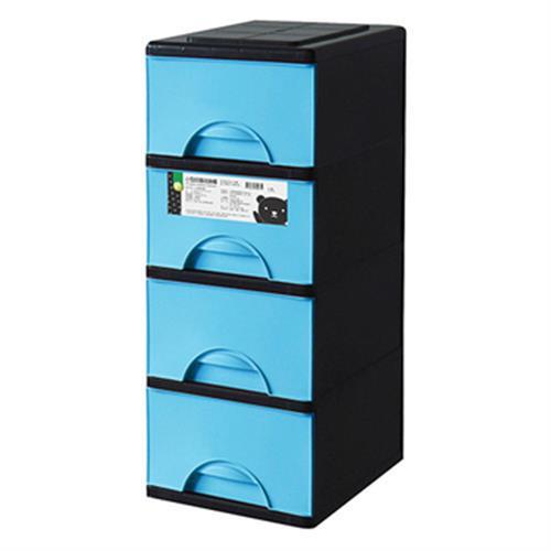 FP 小型四層收納櫃(藍)