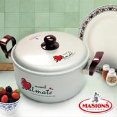 《美心 Masions》珍珠鍋系列-日式湯鍋 24CM(珍珠銀)(24CM)