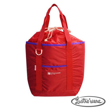 《Lustroware》日本進口外出用束口保冷袋13L(附保冷劑)-紅(LF-554R)