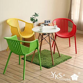 ★結帳現折★YKSHOUSE 彩漾簡約設計椅(3色)(綠色)