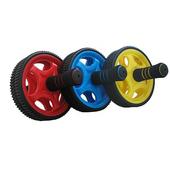 《樂活運動》繽紛色彩雙輪健腹輪(黃色)