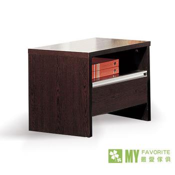 最愛傢俱 北歐風情木面床頭櫃-鐵木刀(鐵刀木色)