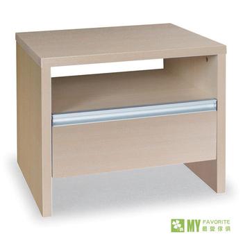 最愛傢俱 北歐風情木面床頭櫃(白橡色)