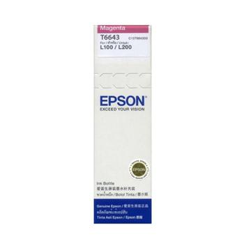 《EPSON》T6643/T664300原廠墨水(紅x2瓶) 適用L300/L350/L355/L550(紅色2瓶1組)
