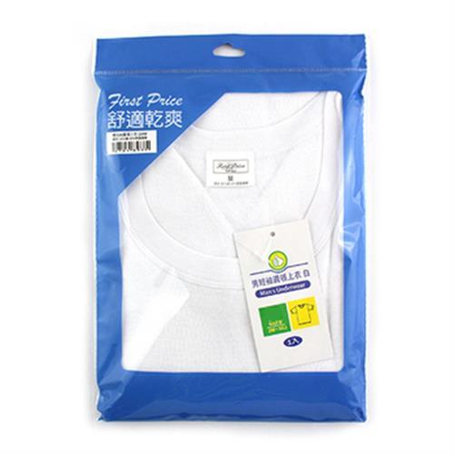 FP 男短袖圓領上衣 白#XL
