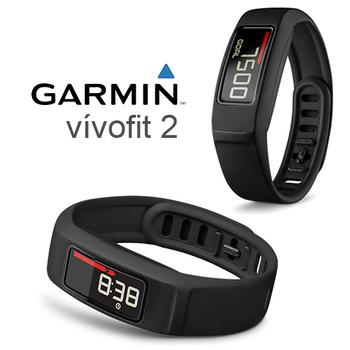 GARMIN vivofit2 健身手環 守護您的健康  《全新原廠公司貨》(時尚黑)