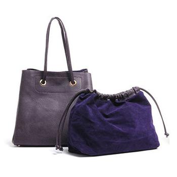阿卡天使 阿卡天使 簡約子母束口托特包(4色)-PB623(優雅紫)
