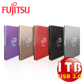 《Fujitsu 富士通》1TB 2.5吋 USB3.0 髮絲外接硬碟(時尚鈦)