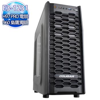 華碩平台 【月閃光】E3四核 H97-PRO電競主板 急速SSD120G 1TB海量爭霸機