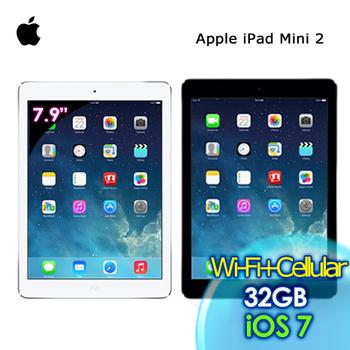 Apple iPad mini 2 Wi-Fi + Cellular 32G 7.9吋 平板電腦(銀)