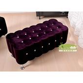 《耐克美》蘭蒂水鑽雙人沙發椅/穿鞋椅(紫色)