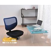 《NaiKeMei-耐克美》馬尼-高張力背部網式和室旋轉電腦椅(雙色系款)(藍黑色)