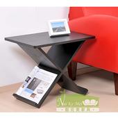 《NaiKeMei-耐克美》莉斯多功能交叉造型茶几/邊桌(黑橡木)