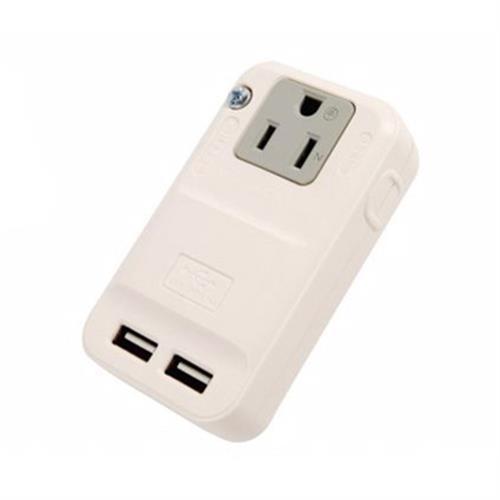 3P分接式壁插+USB充電座(15A)