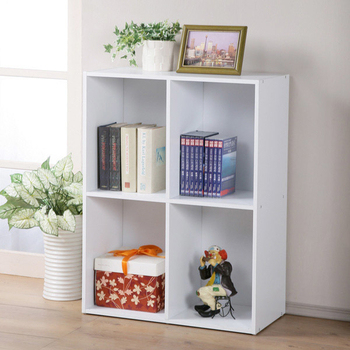 《Homelike》現代風二層四格置物櫃