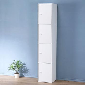 《Homelike》現代風四門置物櫃-三色(純白色)